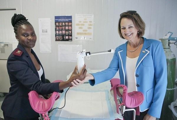Ambassador Johnson calls on women to go for cervical screening
