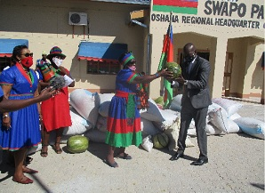 Oshana Swapo Women donate to Covid-19 Erongo