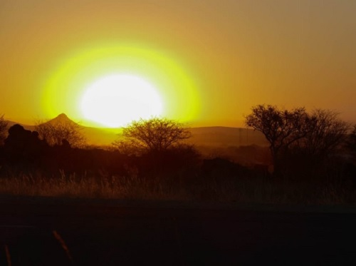 Beautiful sunset at Okahandja