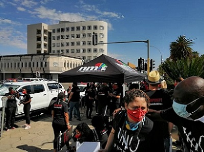 Namibian journalists mark 2 November with peaceful protest