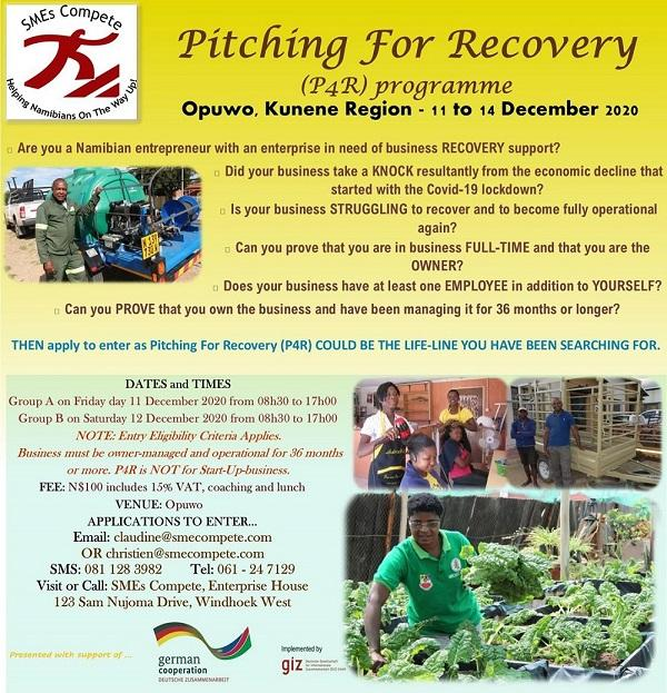 Business Pitching for Recovery in Opuwo