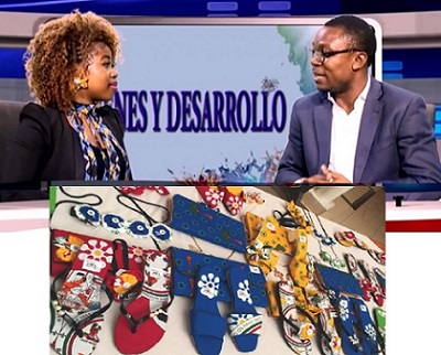 Equatorial Guinea's young entrepreneur uses African fabric to make beautiful bags, shoes and jewellery