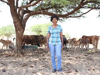 Resettled farmer determined to leave a mark in a male dominated industry